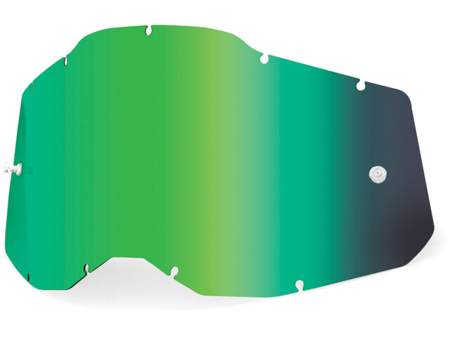 100% Anti-Fog Replacement Lenses Gen2 Youth, green/mirror